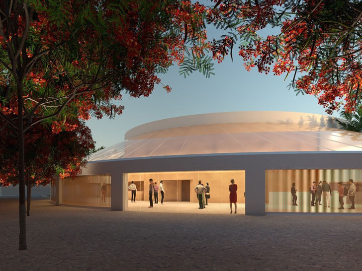 """Auditorium building IESB Brasilia pei copp freed architects indiaartndesign"""