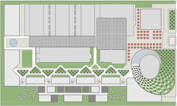 """campus roof plan IESB Brasilia pei copp freed architects indiaartndesign"""
