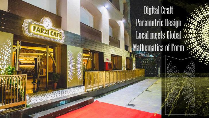 """facade farzi cafe jaipur ratLAB indiaartndesign"""