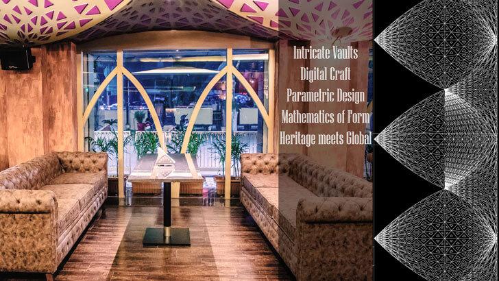 """parametric design farzi cafe jaipur ratLAB indiaartndesign"""