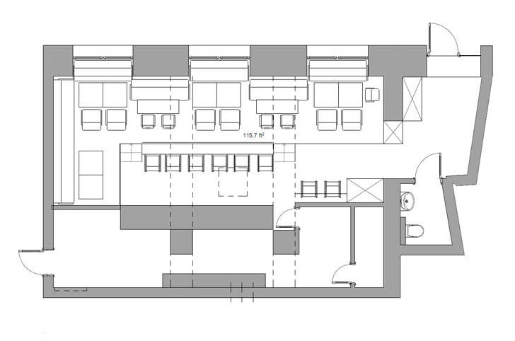 """layout plan K16 cafe allartsdesign indiaartndesign"""