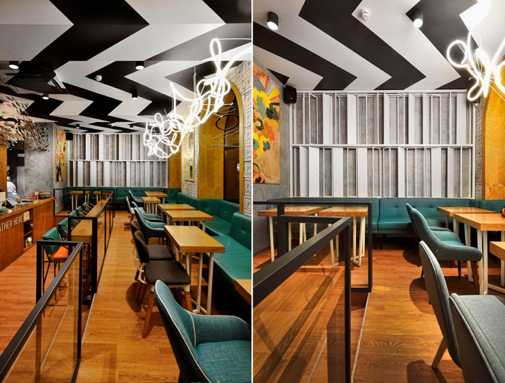 """Z ceiling pattern K16 cafe allartsdesign indiaartndesign"""
