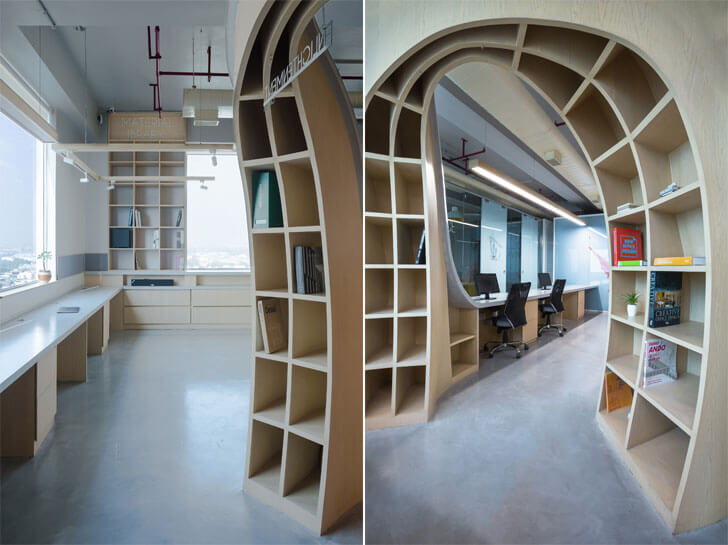 """pliable bookshelves Office Creative Designer Architects indiaartndesign"""
