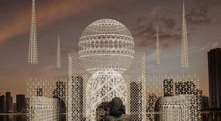 """flying mosque choi n shine indiaartndesign"""