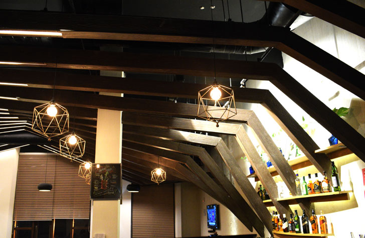 """ceiling rafters club 26 design plus architects indiaartndesign"""