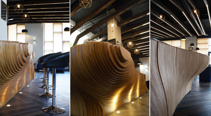 """contoured bar counter club 26 design plus architects indiaartndesign"""