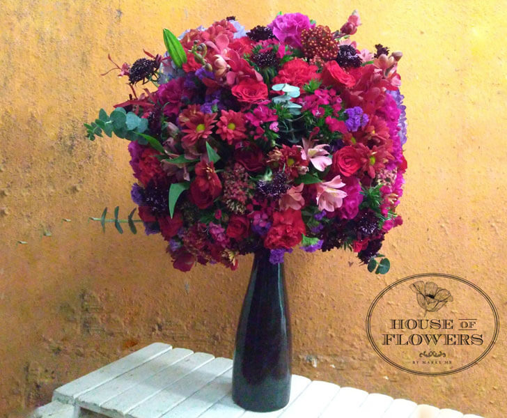 """Flowers in a riot of colours House of Flowers indiaartndesign"""