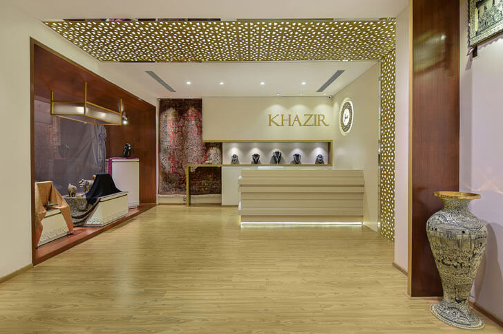 """Khazir Retail reception studio TAB indiaartndesign"""
