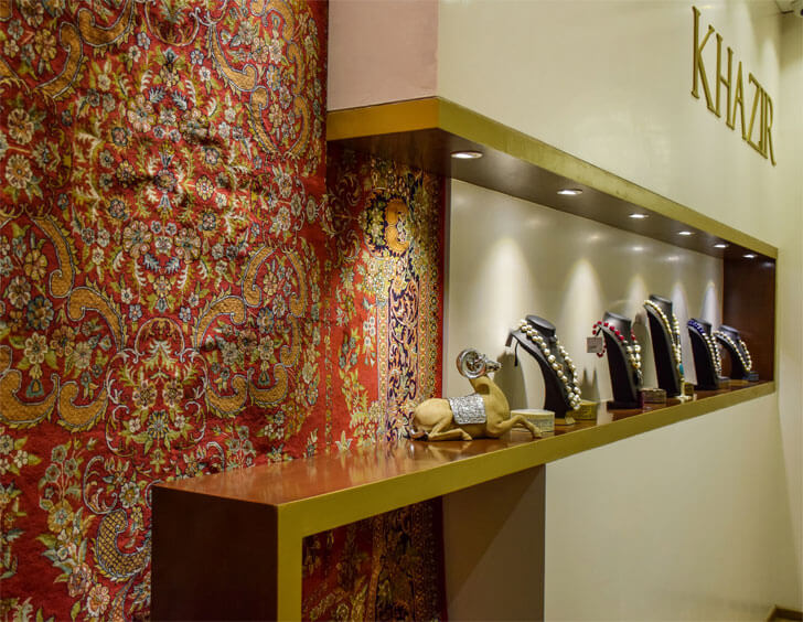 """Khazir Retail by display studio TAB indiaartndesign"""