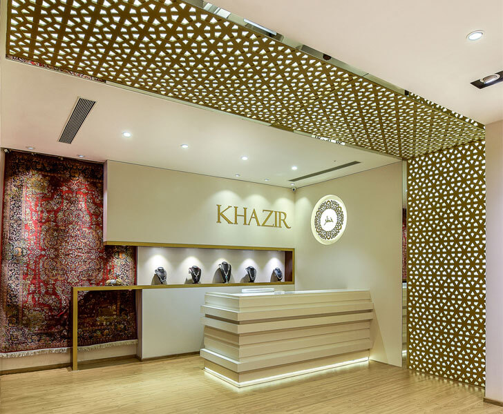 """close up counter Khazir Retail by studio TAB indiaartndesign"""