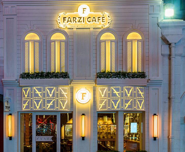 """""""facade farzi cafe mumbai sumessh menon indiaartndesign"""""""