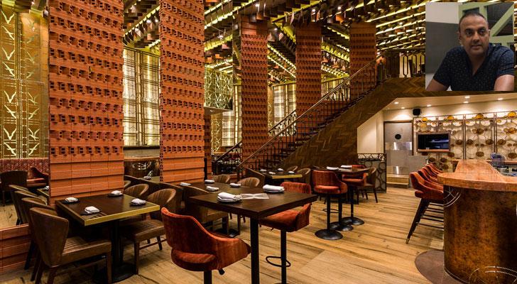 """terracota panels farzi cafe mumbai sumessh menon indiaartndesign"""