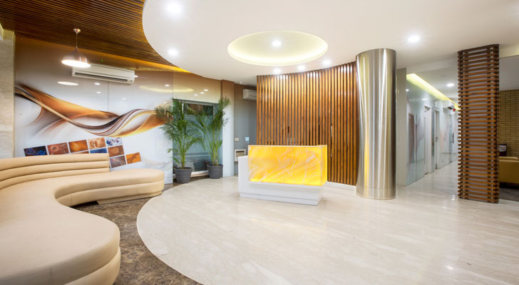 """organic element in interiors Diyos mens clinic Creative designer architects indiaartndesugn"""