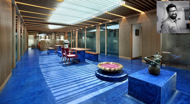 """central courtyard MKP office Dipen Gada associates indiaartndesign"""