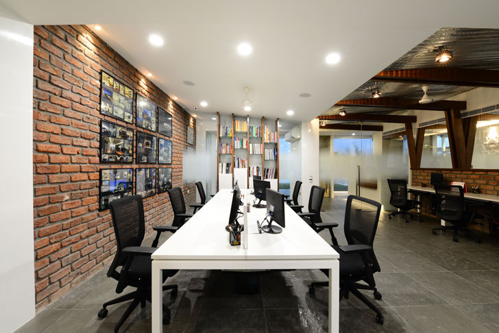"""exposed brick wall harish lakhani architects indiaartndesign"""