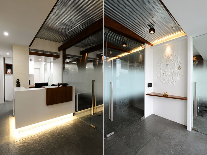"""office entrance harish lakhani architects indiaartndesign"""