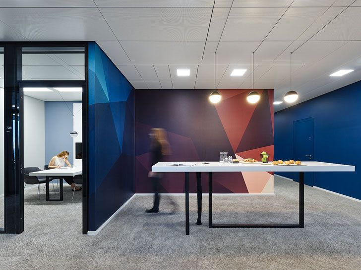 """colourful backdrops NN office Ippolito Fleitz Group indiaartndesign"""
