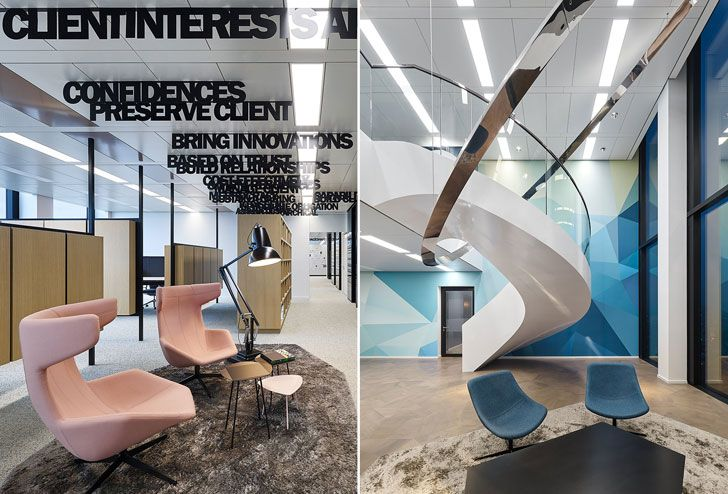 """word ceiling installations NN office Ippolito Fleitz Group indiaartndesign"""