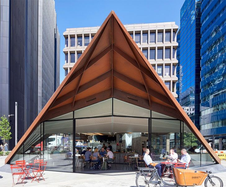 """underside Portsoken Pavilion Make Architects Indiaartndesign"""