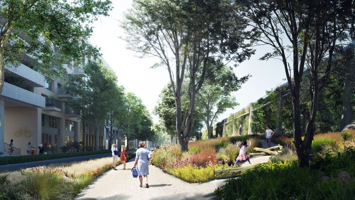 """render Cartesiusdriehoek Blue District Mecanoo Architects indiaartndesign"""