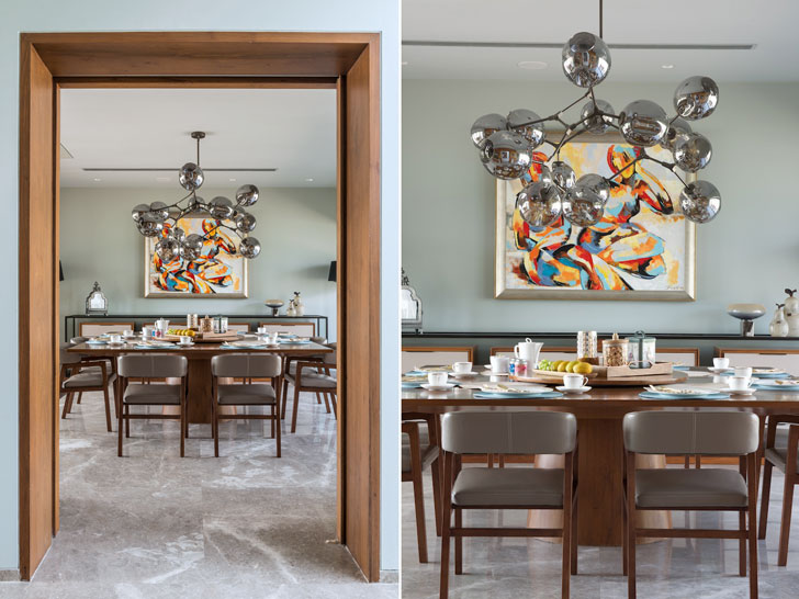 """dining area residential design ADND indiaartndesign"""
