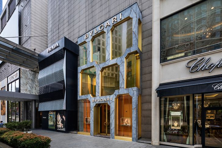 """neighbourhood resin infill kuala lampur store front bulgari MVRDV indiaartndesign"""