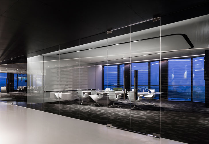 """meeting room poly yuzhu office GD lighting design indiaartnesign"""