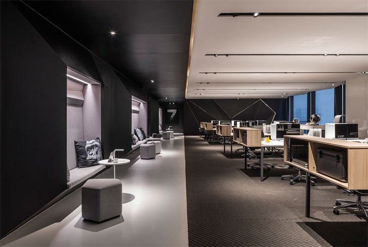 """walkway poly yuzhu office GD lighting design indiaartnesign"""