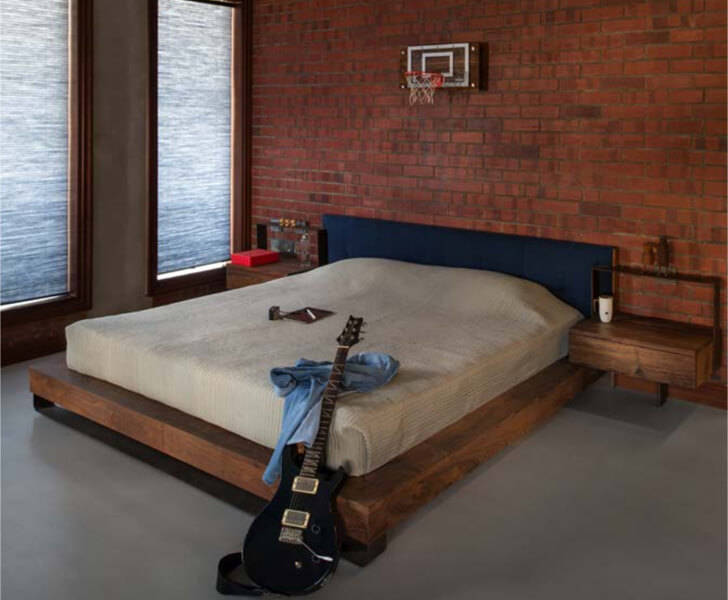 """bedroom in white and brick knock on wood indiaartndesign"""