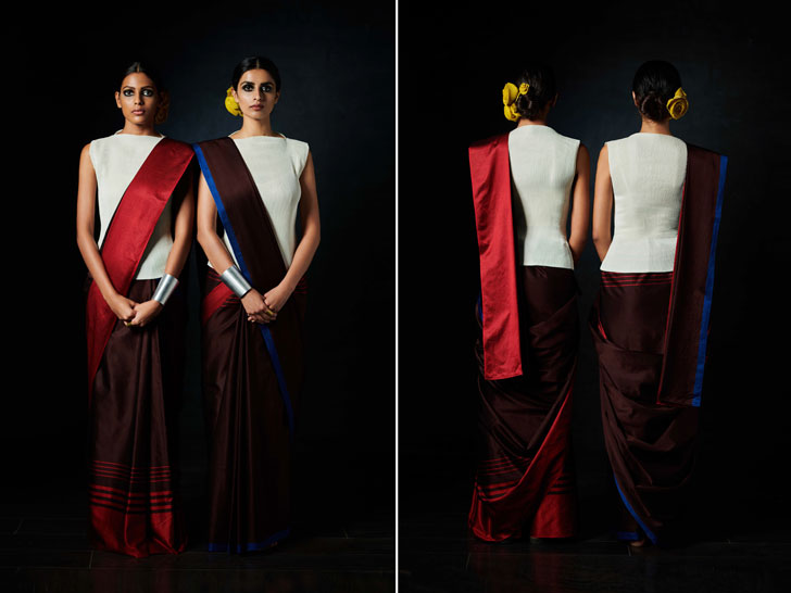 """reversible saree payal khandwala gemini collection indiaartndesign"""