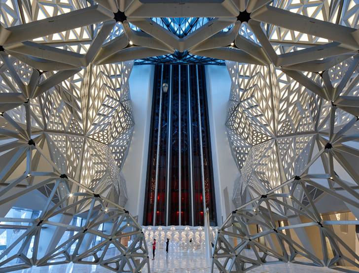 """elevators ZHA Morpheus City of Dreams resort indiaartndesign"""