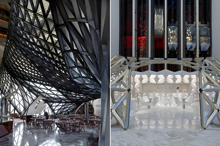 """interiors ZHA Morpheus City of Dreams resort indiaartndesign"""