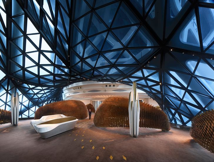 """pavillion shell structure ZHA Morpheus City of Dreams resort indiaartndesign"""