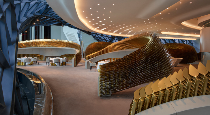 """restaurant ZHA Morpheus City of Dreams resort indiaartndesign"""