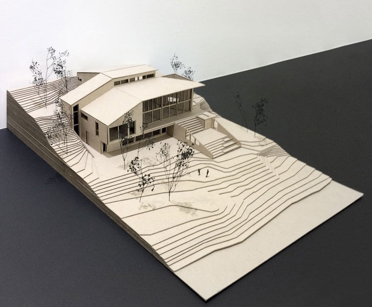 """architectural model Laccostee house Bourgeois Lechasseur architects indiaartndesign"""