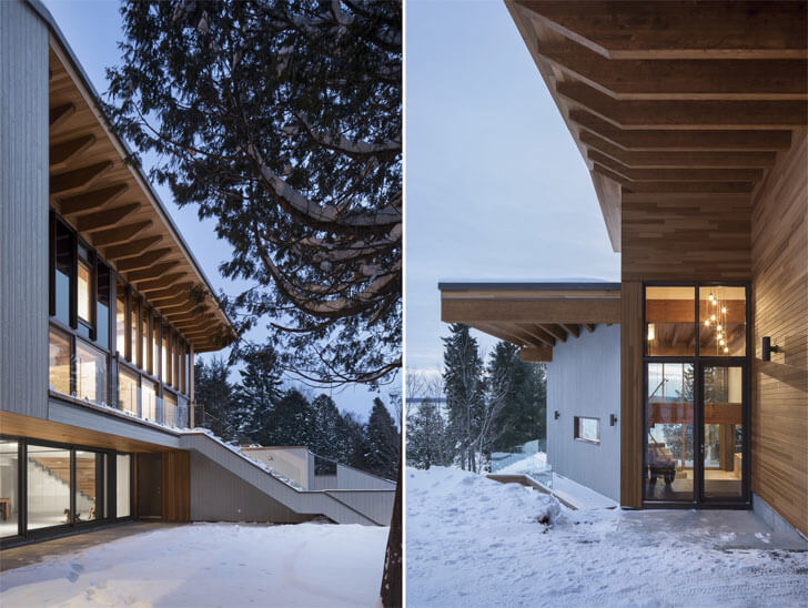 """ensconsed in nature Laccostee house Bourgeois Lechasseur architects indiaartndesign"""