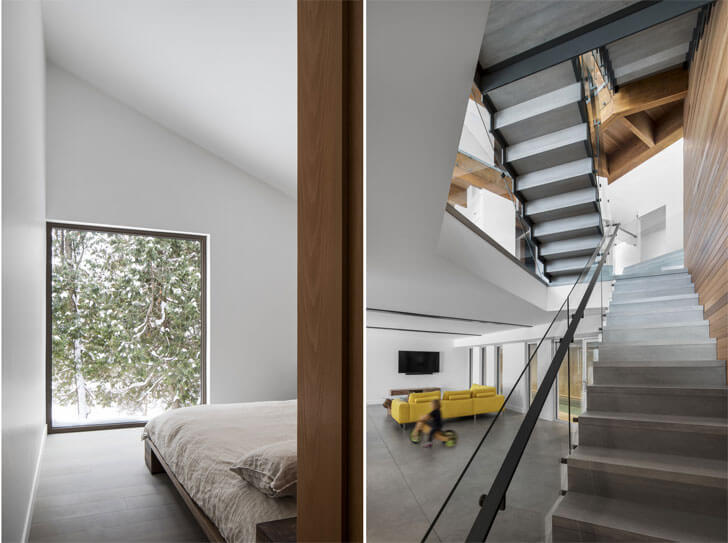 """framing views Laccostee house Bourgeois Lechasseur architects indiaartndesign"""