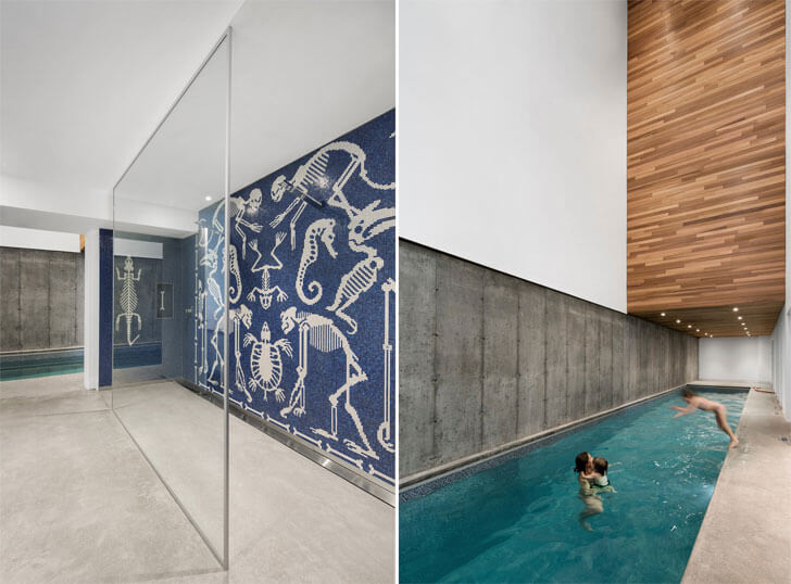 """indoor swimming pool Laccostee house Bourgeois Lechasseur architects indiaartndesign"""