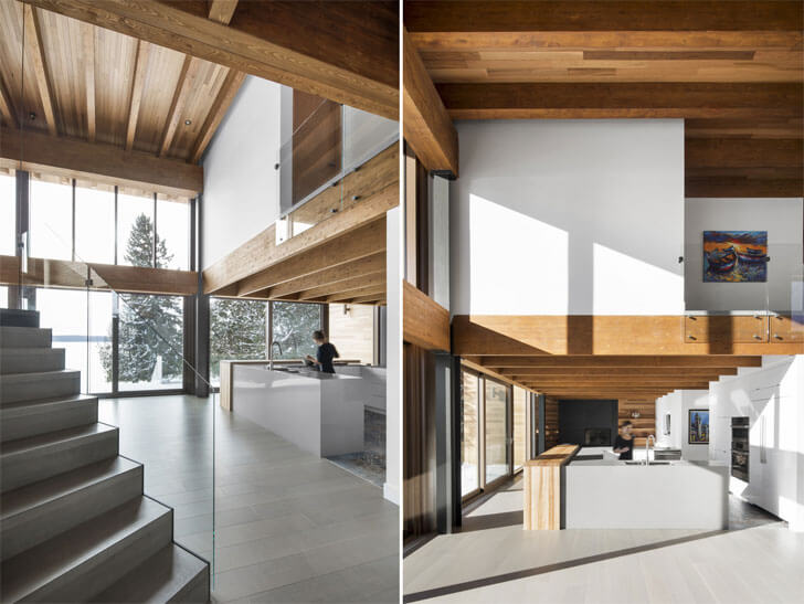 """kitchen area Laccostee house Bourgeois Lechasseur architects indiaartndesign"""