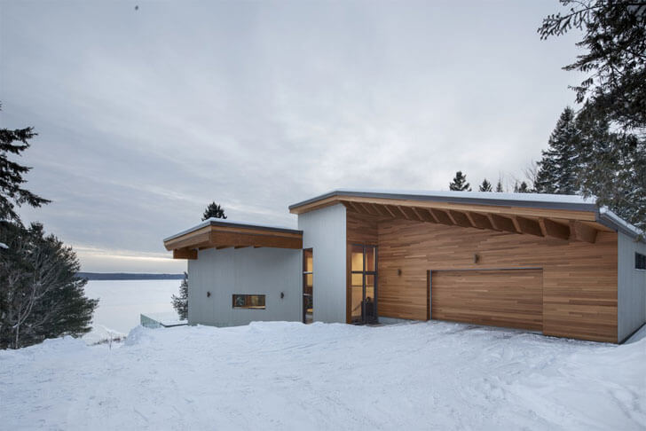 """lake view Laccostee house Bourgeois Lechasseur architects indiaartndesign"""