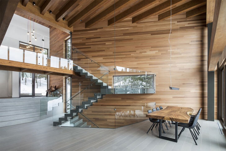 """wood construction Laccostee house Bourgeois Lechasseur architects indiaartndesign"""