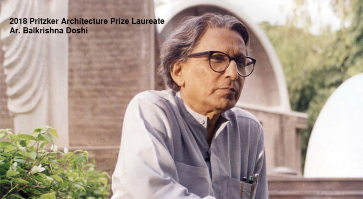"""Pritzker Prize 2018 Architect Balkrishna Doshi indiaartndesign"""