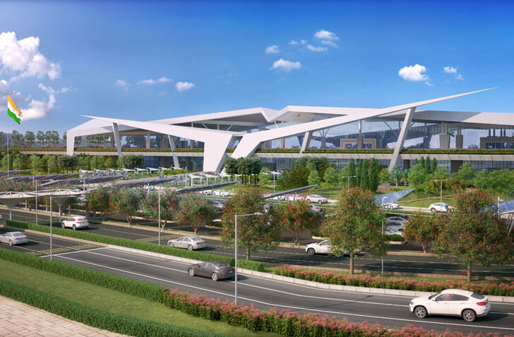 """city side view Guwahati airport DFI Architects indiaartndesign"""