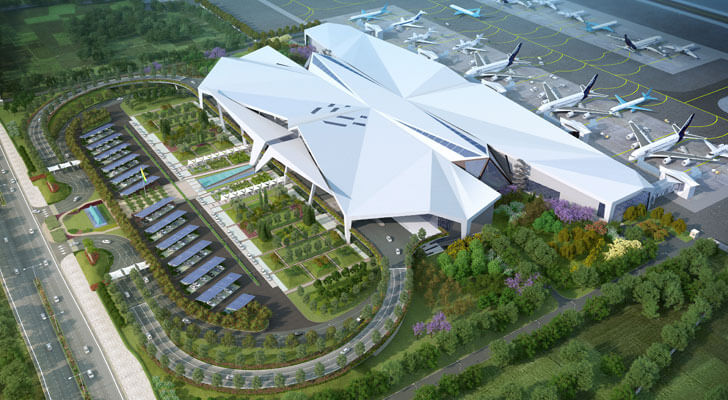 """aerial view Guwahati airport DFI Architects indiaartndesign"""
