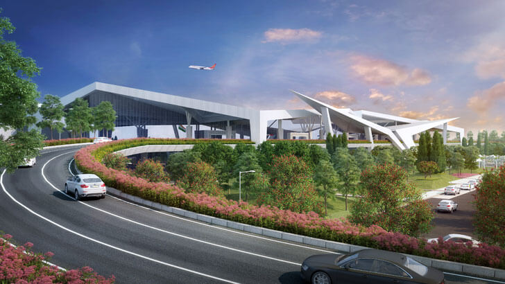 """approach ramp Guwahati airport DFI Architects indiaartndesign"""