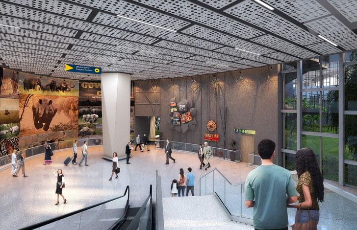 """namaskar atrium Guwahati airport DFI Architects indiaartndesign"""
