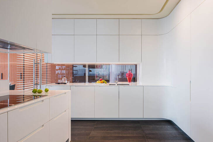 """all white kitchen chromatic spaces ippolito fleitz group indiaartndesign"""