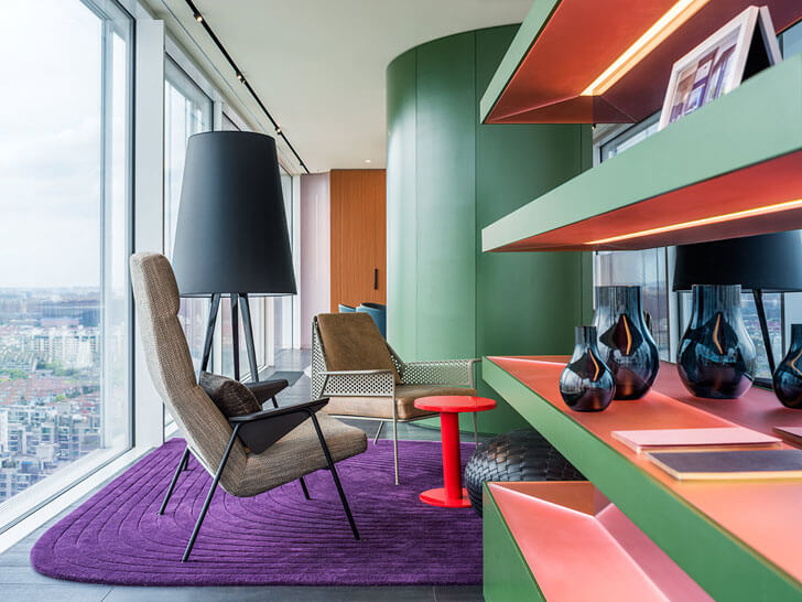 """details living area chromatic spaces ippolito fleitz group indiaartndesign"""