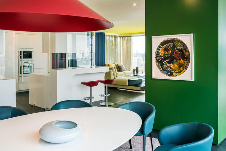 """dining area chromatic spaces ippolito fleitz group indiaartndesign"""