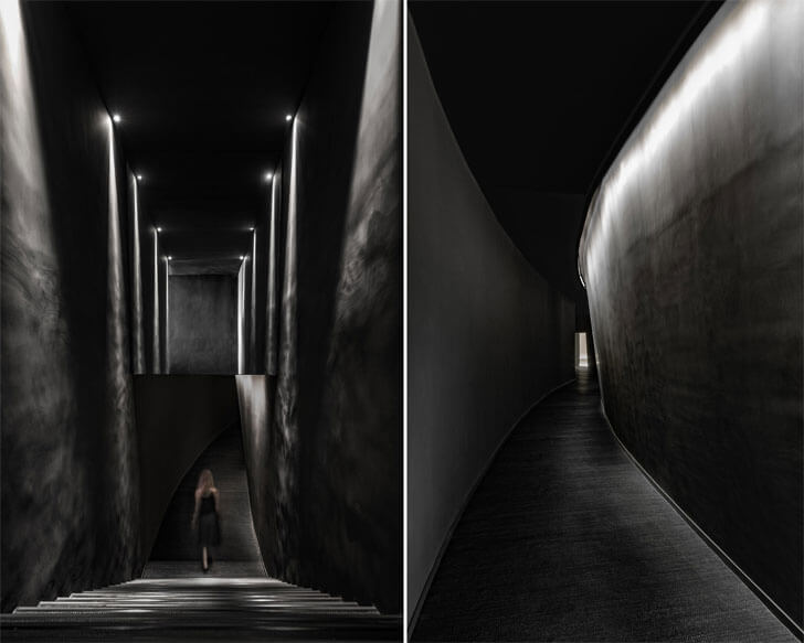 """dark corridor entrance Jian li ju theatre MDO indiaartndesign"""